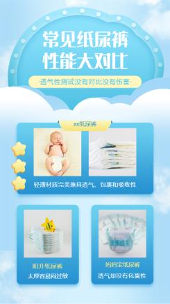 纸尿裤产品展示海报