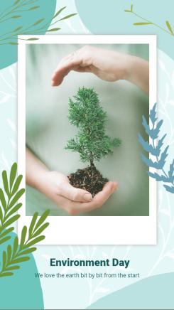 通用-个人展示-环保【手绘插画】海报