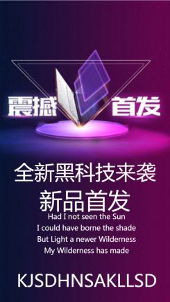 炫酷商务宣传海报