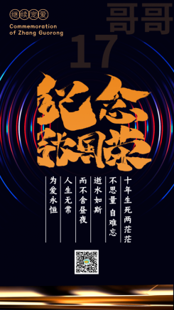 纪念张国荣逝世17周年手机海报