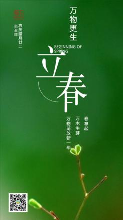 绿色简约立春寒节企业宣传海报
