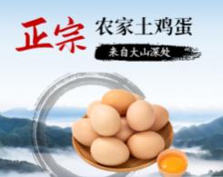食品生鲜土鸡蛋特产小程序封面图海报
